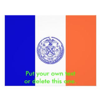 ニューヨークシティ、米国の旗が付いているフライヤ チラシ