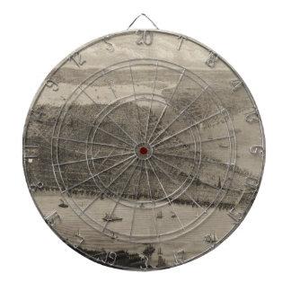 ニューヨークシティ(1876年)のヴィンテージの絵解き地図 ダーツボード