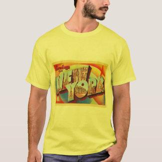 ニューヨークシティ#2 NYの大きい手紙旅行郵便はがき- Tシャツ