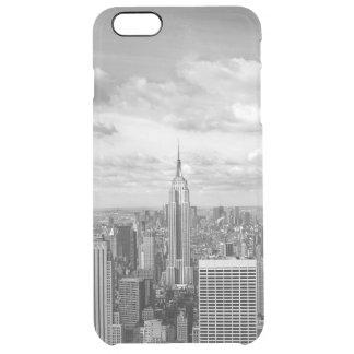 ニューヨークシティNY NYCのスカイラインのwanderlust旅行 クリア iPhone 6 Plusケース