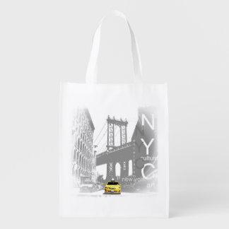 ニューヨークシティNycの黄色いタクシーのポップアート エコバッグ