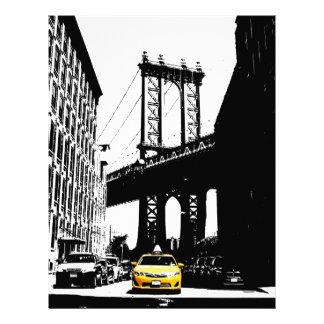 ニューヨークシティNycの黄色いタクシーのポップアート レターヘッド