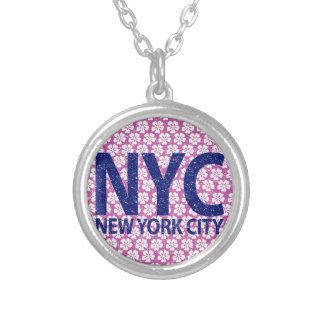 ニューヨークシティNYC シルバープレートネックレス