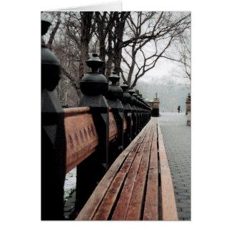 ニューヨークセントラル・パークの挨拶状 カード