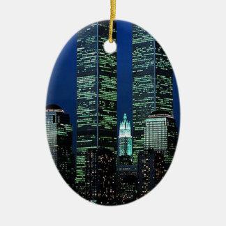 ニューヨークツインタワーNYCの記念品のオーナメント セラミックオーナメント