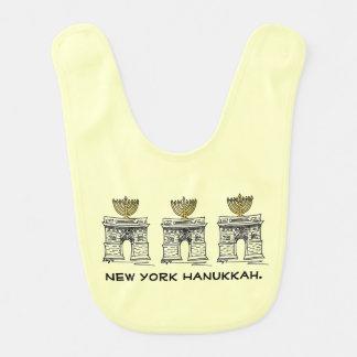 ニューヨークハヌカーのハヌカー(ユダヤ教の祭り) NYCの(ユダヤ教)メノラーのよだれかけ ベビービブ