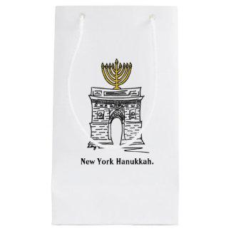 ニューヨークハヌカーの(ユダヤ教)メノラーNYCワシントン州のスクエアバッグ スモールペーパーバッグ