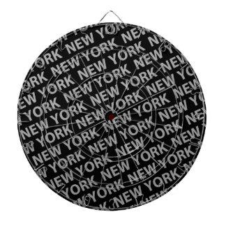 ニューヨークパターン灰色 ダーツボード