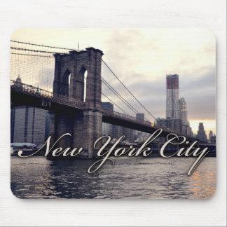 ニューヨークブルックリン橋の日没のマウスパッド マウスパッド