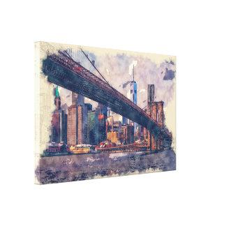 """ニューヨークブルックリン橋36"""" x 24""""キャンバスプリント キャンバスプリント"""