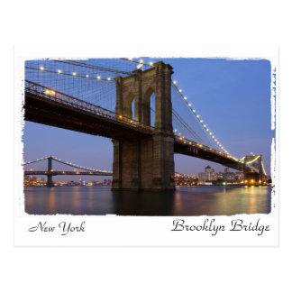 ニューヨークブルックリン橋 ポストカード