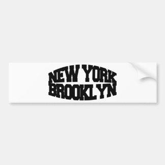 ニューヨークブルックリン バンパーステッカー