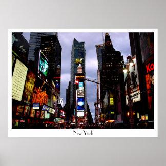 ニューヨークポスタータイムズ・スクエア夜NYC Souven ポスター