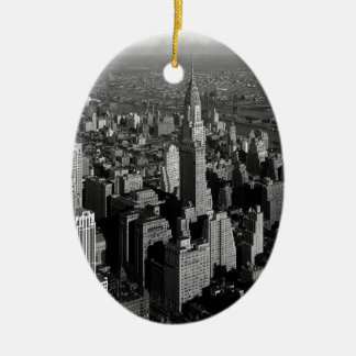 ニューヨークマンハッタンを造るクライスラ セラミックオーナメント