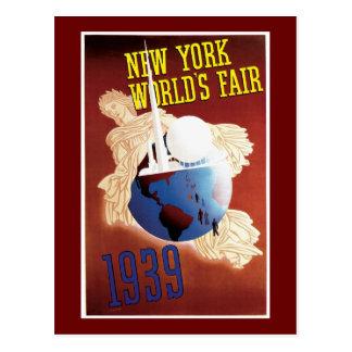 """""""ニューヨーク万国博覧会1939年""""のヴィンテージ ポストカード"""