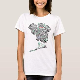 ニューヨーク女王のタイポグラフィのデザインのTシャツ Tシャツ
