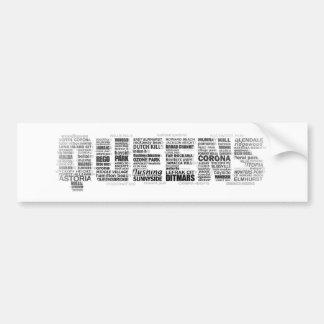 ニューヨーク女王のタイポグラフィのバンパーステッカー バンパーステッカー