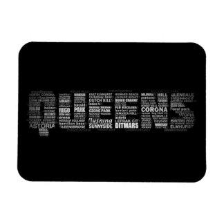 ニューヨーク女王のタイポグラフィの磁石 マグネット