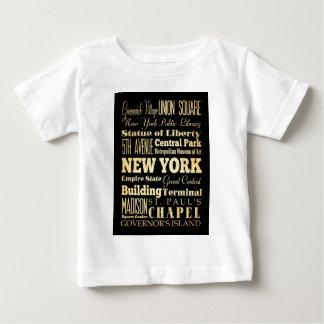 ニューヨーク州のタイポグラフィの芸術のニューヨークシティ ベビーTシャツ