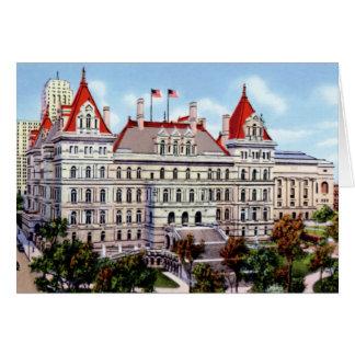 ニューヨーク州の国会議事堂アルバニーニューヨーク カード