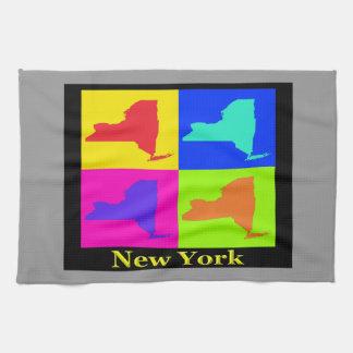 ニューヨーク州の地図 キッチンタオル