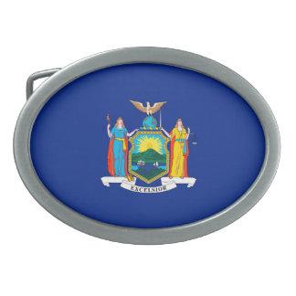 ニューヨーク州の旗のデザイン 卵形バックル