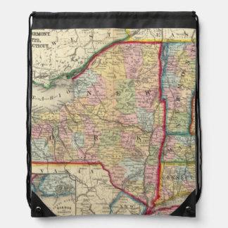 ニューヨーク州の郡地図 ナップサック