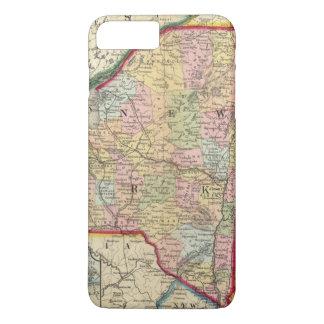 ニューヨーク州の郡地図 iPhone 8 PLUS/7 PLUSケース