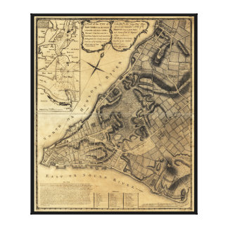 ニューヨーク市の地図(1766年)の計画 キャンバスプリント