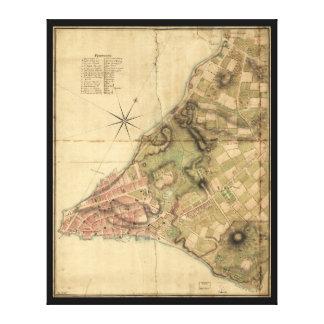 ニューヨーク市の地図(1776年)の計画 キャンバスプリント