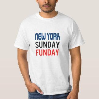 ニューヨーク日曜日Fundayのユニセックスなティー Tシャツ