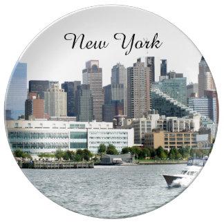 ニューヨーク港 磁器プレート