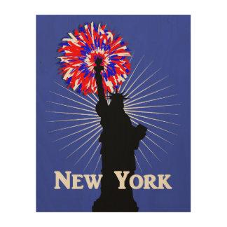 ニューヨーク米国のアメリカの愛国心が強い自由の女神 ウッドウォールアート