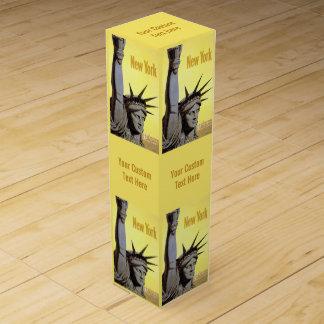 ニューヨーク米国のヴィンテージ旅行ワイン用化粧箱 ワインギフトボックス