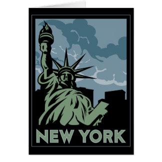ニューヨーク米国米国のヴィンテージのレトロ旅行 グリーティングカード