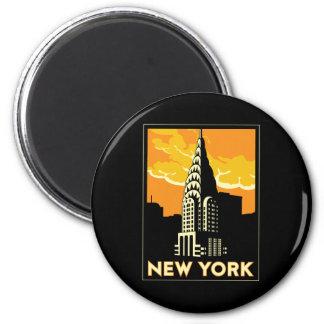 ニューヨーク米国米国のヴィンテージのレトロ旅行 マグネット