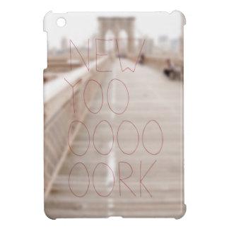 ニューヨーク粋な手のレタリングの文字 iPad MINIカバー