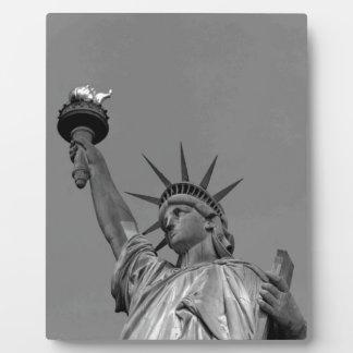 ニューヨーク黒く及び白い自由の女神 フォトプラーク