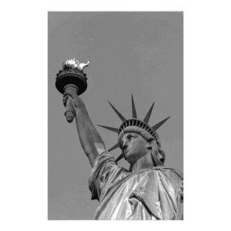 ニューヨーク黒く及び白い自由の女神 便箋