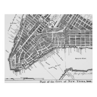 ニューヨーク1868年の計画のヴィンテージポスター ポスター