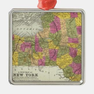 ニューヨーク2の新しい地図 メタルオーナメント