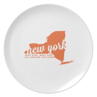 ニューヨーク|の歌の叙情詩|のオレンジ プレート