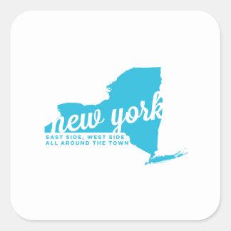 ニューヨーク|の歌の叙情詩|のスカイブルー スクエアシール