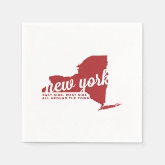 ニューヨーク|の歌の叙情詩|の深紅色 スタンダードカクテルナプキン