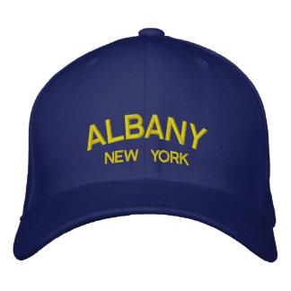ニューヨーク-アルバニーによって刺繍される帽子 刺繍入りキャップ