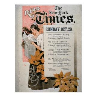 「ニューヨーク・タイムズ」を読んで下さい(色のlitho) ポストカード