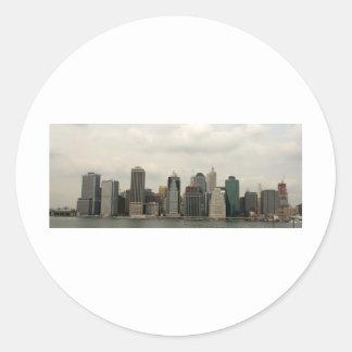 ニューヨーク-ブルックリンからのManhatten ラウンドシール
