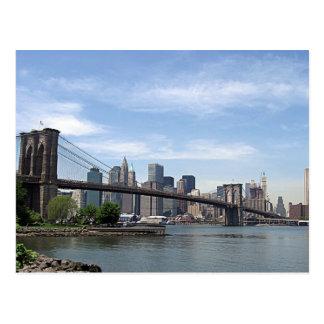 ニューヨーク-ブルックリン橋 ポストカード