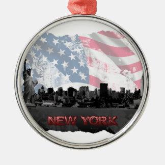 ニューヨーク メタルオーナメント