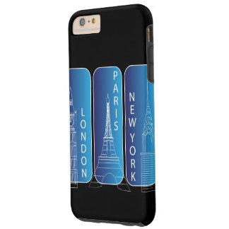 ニューヨーク、ロンドン、堅いパリIphone 6 Tough iPhone 6 Plus ケース
